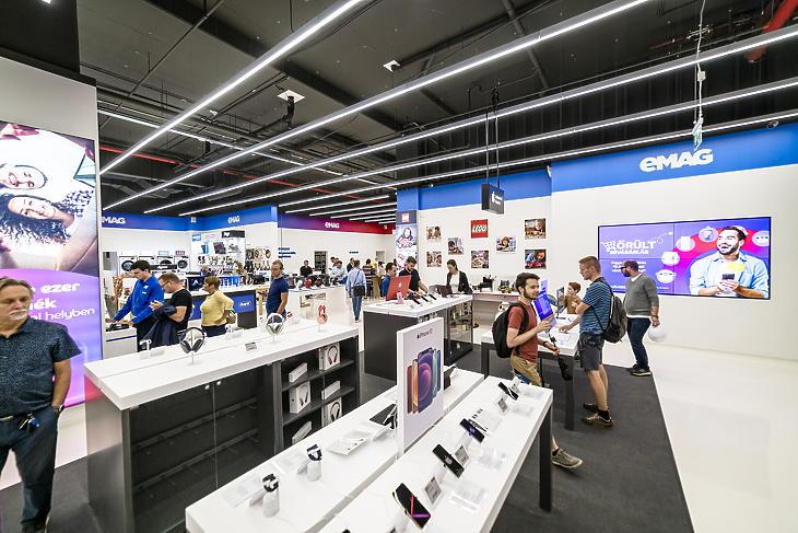 A hagyományos üzleteknél nagyobb az alapterület. Fotó: EMAG