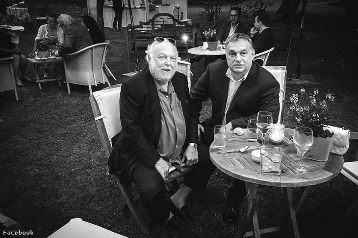 Orbán Viktor ezzel a képpel búcsúzott a filmes szakembertől (Forrás: Orbán Viktor Facebook oldala)