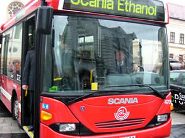 Bioetanol üzemű busz