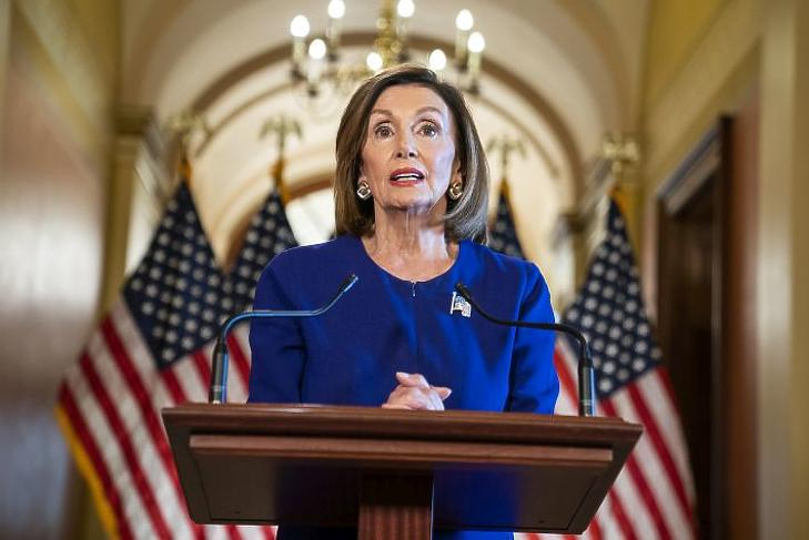 Nancy Pelosi (Fotó: EPA/JIM LO SCALZO)