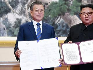 Észak-Korea megígérte Dél-Koreának, hogy nemzetközi ellenőrzés mellett leszereli a rakétakísérleti telepét