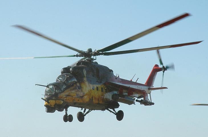 Mi-24-es helikopter (Fotó: Wikipedia)