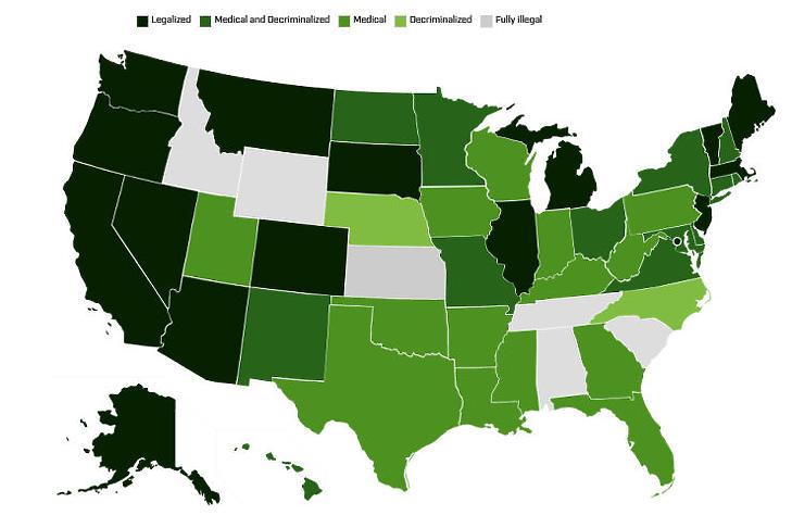 Egyre több helyen vált legálissá, de sok helyen még mindig tiltják (Forrás: disa.com)