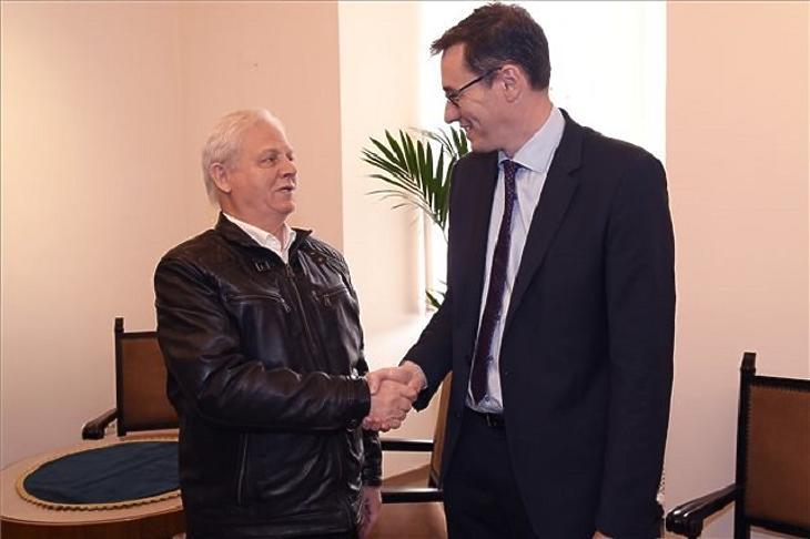 Karácsony Gergely megválasztott (j) és Tarlós István leköszönő főpolgármester a hivatal átadás-átvételén a Városházán 2019. október 17-én. MTI/Kovács Tamás