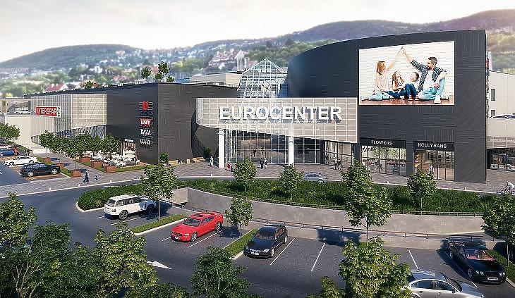 Az Eurocenter felújítás utáni látványterve. (forrás: WING)