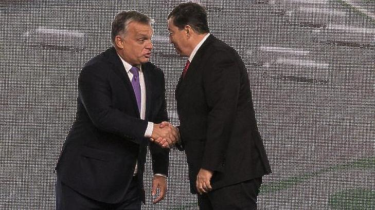 Orbán Viktor kormányfő és Mészáros Lőrinc