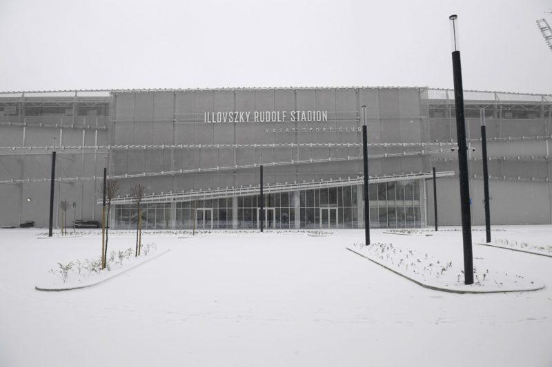 A Vasas épülő új stadionja (Fotó: MTI)