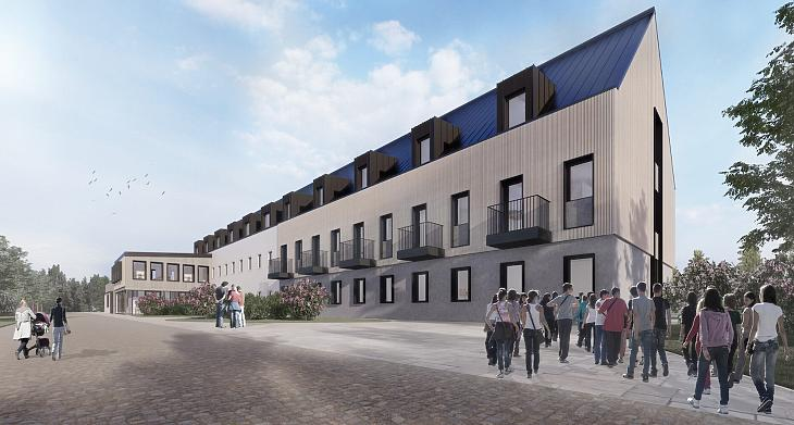 Ilyen lesz az új kollégiumi épület (forrás: DAW stúdió)