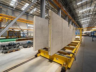 Elindult a termelés az ország legnagyobb építőelem-előregyártó üzemében