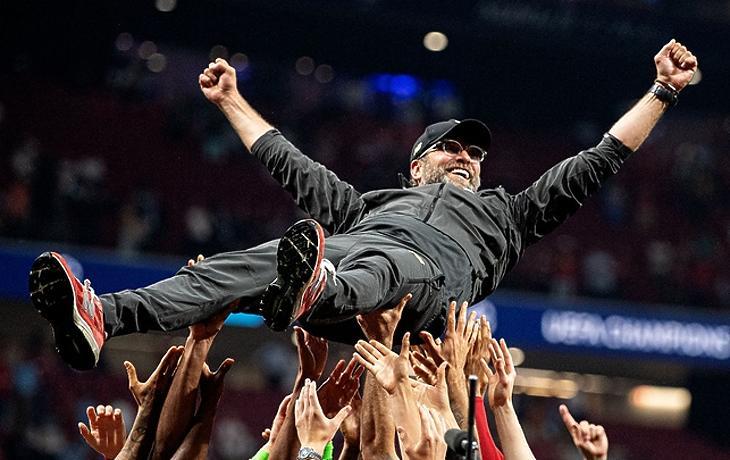 A Bajnokok Ligája győzelem utáni ünneplés (paddypower.com)