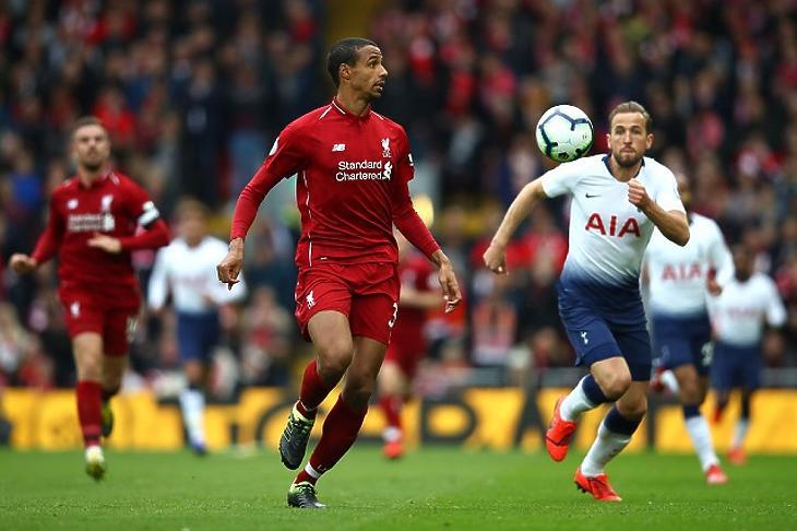 A Liverpool és a Tottenham összecsapása az Anfielden, 2019. március 31-én. (Fotó: Clive Brunskill/Getty Images)