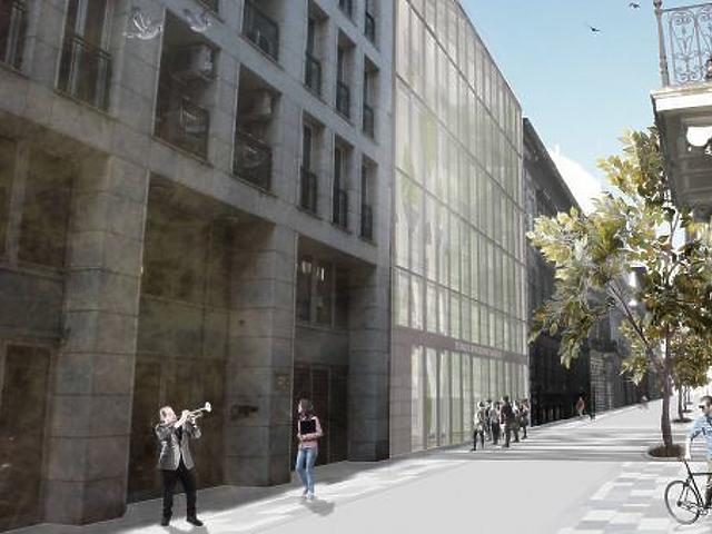 Izomrostból építenek uszodát a Belvárosban