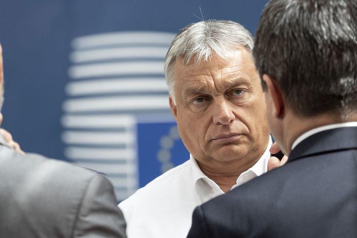 Orbán Viktor az EU-csúcson Brüsszelben 2020. július 19-én. Illusztráció (Fotó: Európai Tanács)