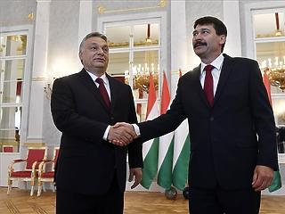 Áder fogadta Orbánt