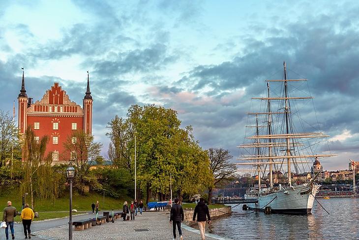 Stockholm: a svédeknél nem volt karantén. (Fotó: Pexels/ Vicente Viana Martínez)