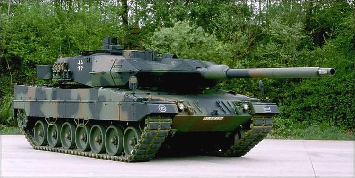 Leopard2 típusú harckocsi (Forrás: htka.hu)