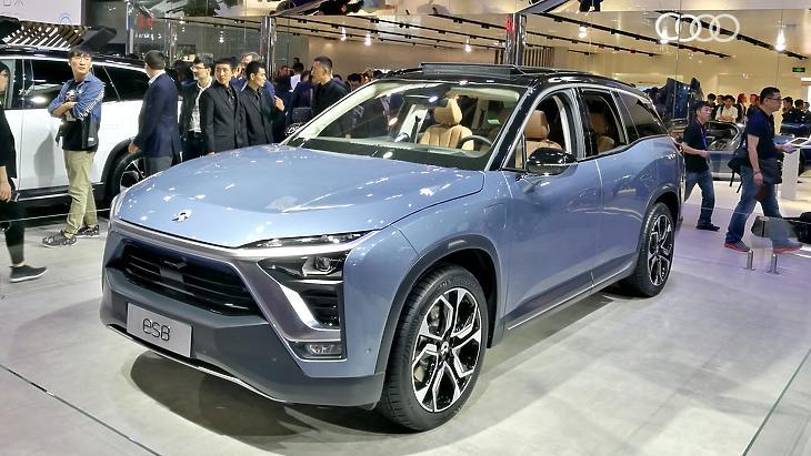 A Nio  ES8-as e-autó modellje. (Fotó: Yu Nakamura / asia.nikkei.com)