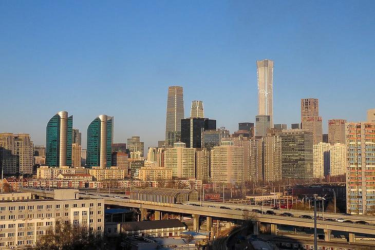 Peking központi üzleti negyede (Forrás: wikipedia)