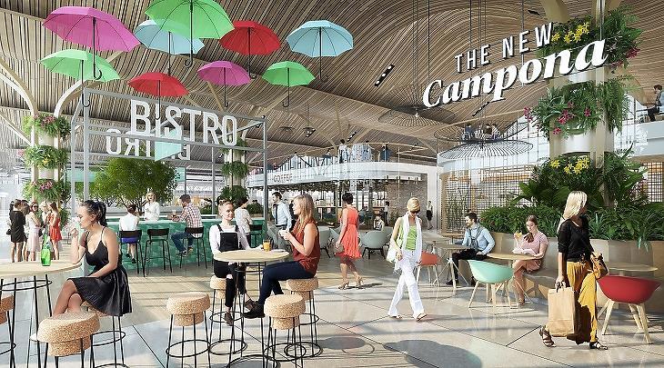 Régiós életmódközpont lesz a megújuló Campona
