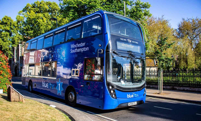 A légszűrős Bluestar busz.