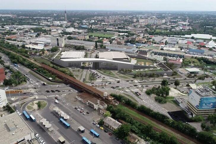 Ilyen lesz az új sportközpont a Mázsa téren (forrás: Kreatív Magyar Mérnök Kft.)