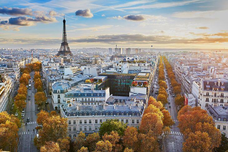 Párizs madártávlatból. (Forrás: Depositphotos)