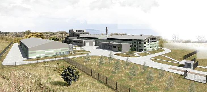 A szerencsi üveggyapot gyár látványterve (Forrás: engedélyeztetési dokumentáció)
