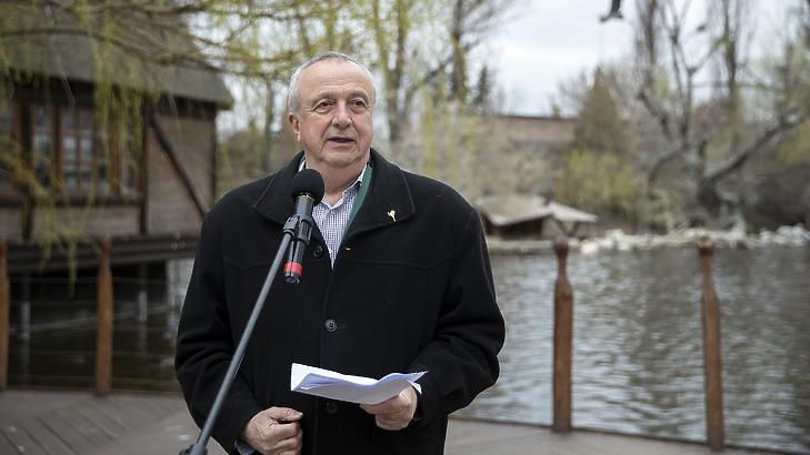 Persányi Miklós, a Fővárosi Állat- és Növénykert leköszönő főigazgatója (Fotó: MTI/Mohai Balázs)