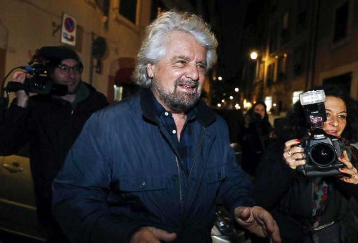 Beppe Grillo humorista, politikai aktivista, az Öt Csillag Mozgalom társalapítója. EPA/RICCARDO ANTIMIANI