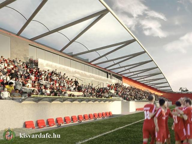 A kisvárdai stadion látványterve (Fotó: Kisvárda FC)