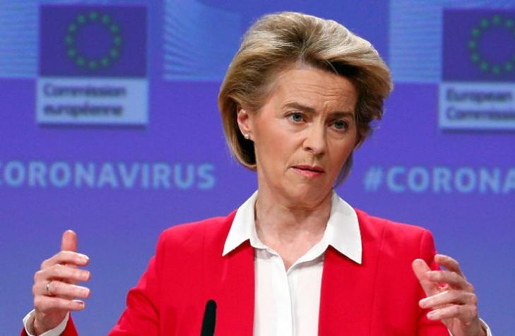 Ursula von der Leyen (Fotó: MTI/EPA/REUTERS pool/Francois Lenoir)