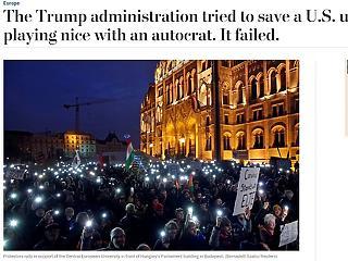 WP: Orbán megszégyenítette az Egyesült Államokat, a CEU a politikai vandalizmus áldozata lesz
