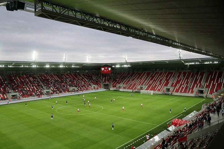 Az új diósgyőri stadion (Fotó: MTI)