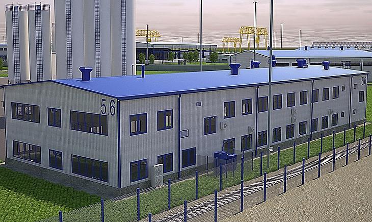 A betonvizsgáló laboratórium látványterve (Forrás: paks2.hu)