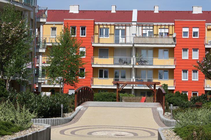 Lakópark az egyik külső kerületben. (Fotó: Mester Nándor)