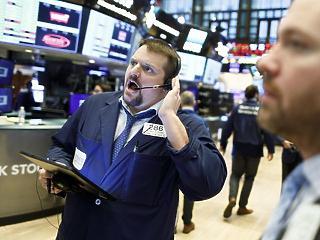 Hétfőn is hihetetlen szakadás volt a Wall Streeten