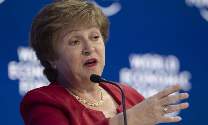 Krisztalina Georgieva, az IMF vezetője (Fotó: MTI/EPA/KEYSTONE/Gian Ehrenzeller)