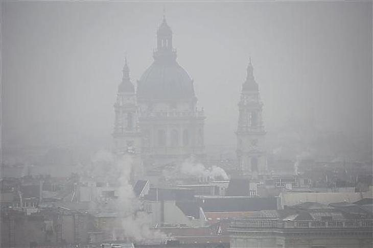 Szmog Budapesten (Fotó: MTI)