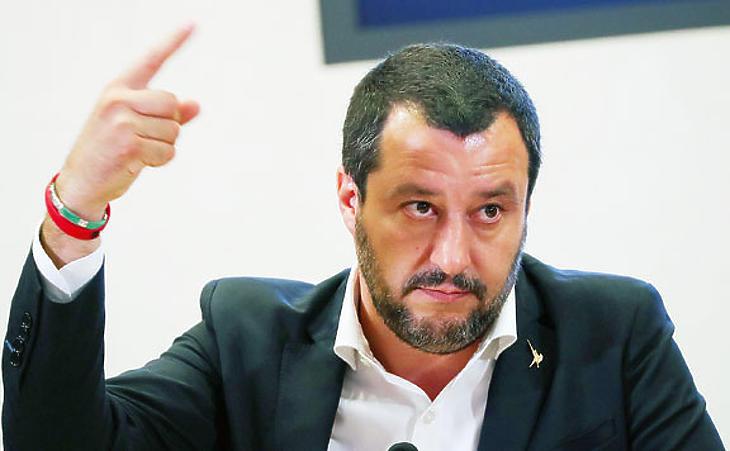 Matteo Salvini olasz miniszterelnök-helyettes. (Fotó: Reuters)