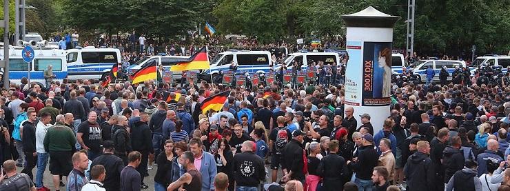 Bevándorlásellenes tüntetés Chemnitzben