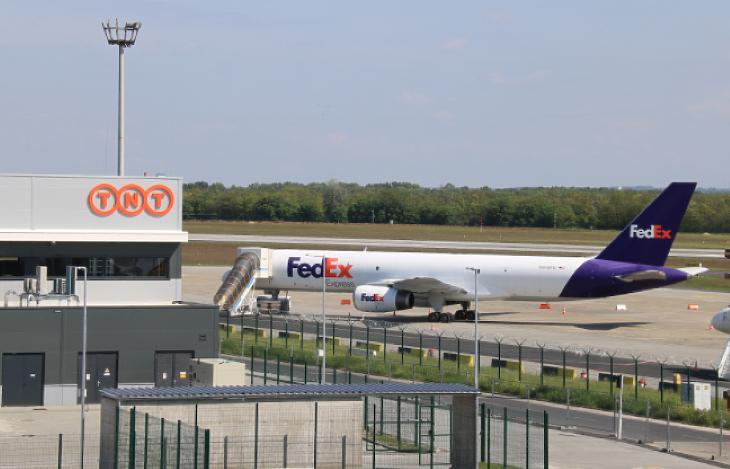 A nagy globális légi express fuvarozók mind jelen vannak Ferihegyen (forrás: Budapest Airport)