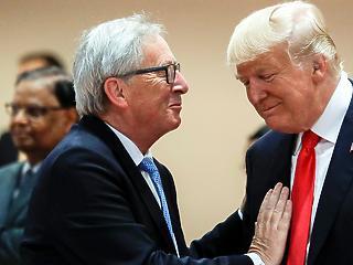 Óriásit békült egymással Trump és Juncker, enyhülés jöhet az USA-EU vámhelyzetben