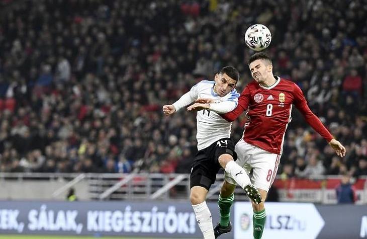 Nem csak a helyszínen nézték sokan a válogatott meccset (MTI fotó - Koszticsák Szilárd)