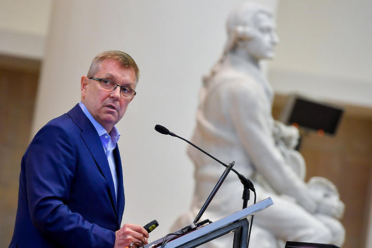 Matolcsy György a vándorgyűlésen (Forrás: Czeglédi Zsolt/MTI)