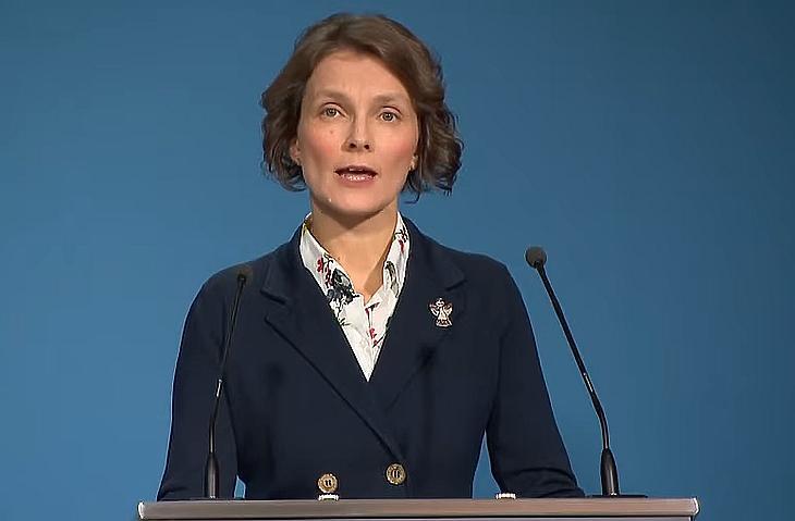 Galgóczi Ágnes, a Nemzeti Népegészségügyi Központ járványügyi osztályvezetője (Forrás: M1, YouTube)