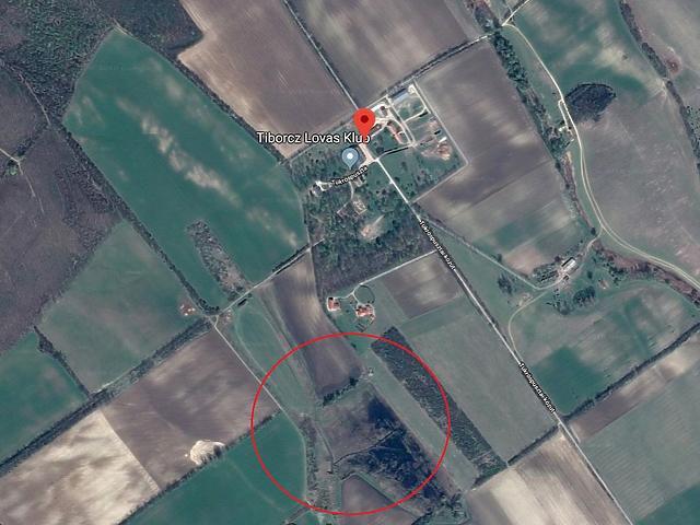 Valahol a pirossal jelölt terület környékén épülhet a dísztó (Forrás: GoogleMaps)