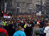 A szellemi szabadságért tüntetnek Budapest belvárosában