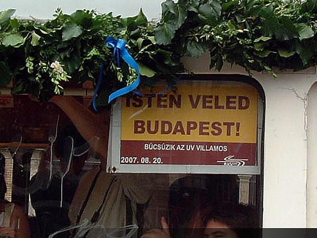 Isten Veled Budapest!