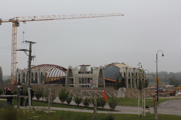 Idén januárban még így állt az új sporthotel építése Felcsúton (fotó: Mester Nándor)