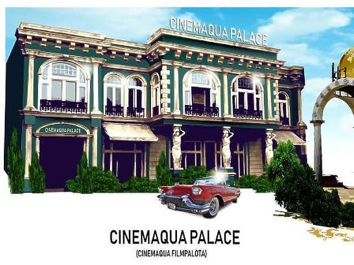 Látványterv a Cinemaqua főépületéről